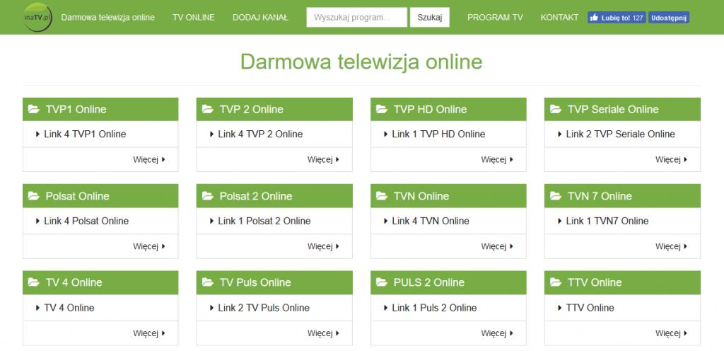 inatv.pl - darmowa telewizja online