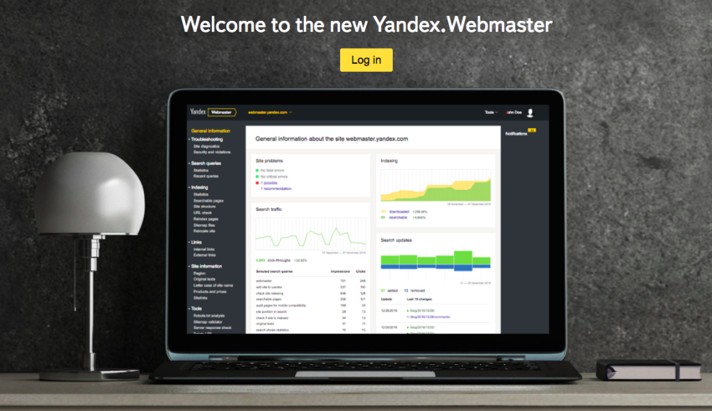 jak dodać stronę do Yandex