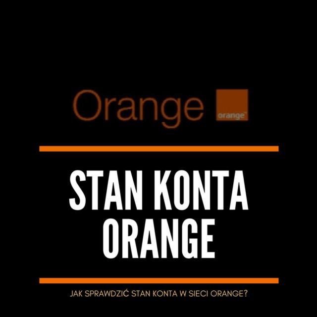 jak sprawdzić stan konta w sieci Orange
