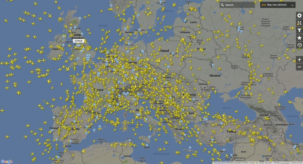 Flightradr24 - śledzenie lotów