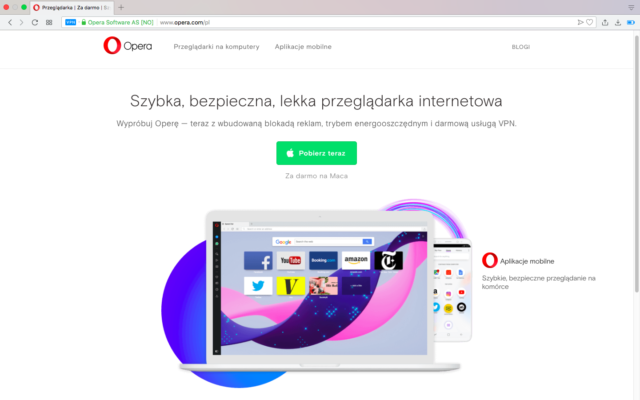 Jak włączyć VPN w Operze