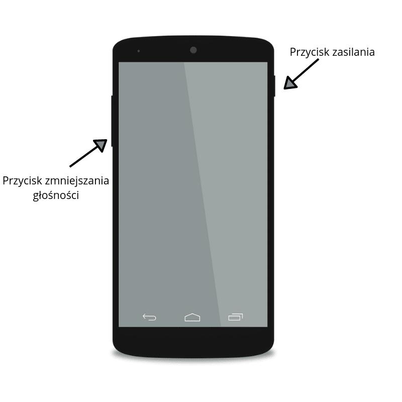 Zrzut Ekranu na telefonie z systemem Android