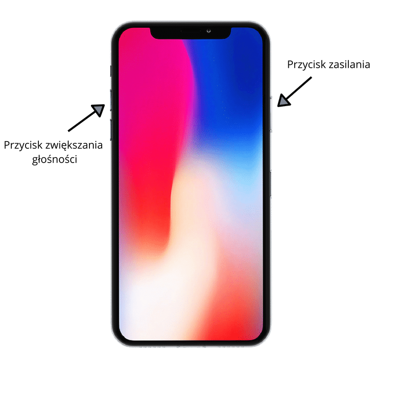 Iphone X zrzut ekranu