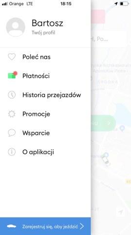 Bolt menu
